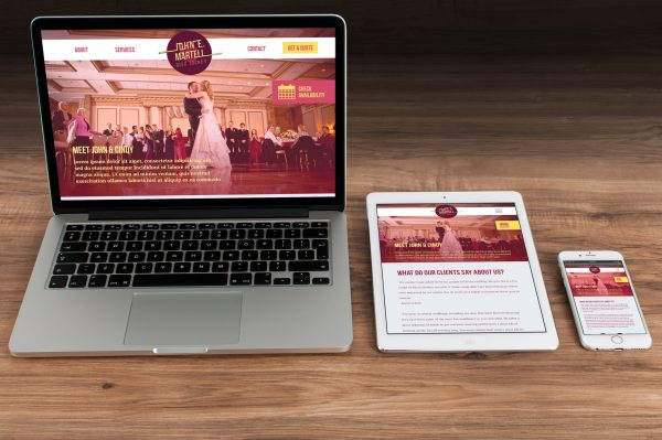 Sara Barats freelance web designer Wedding DJ responsive website made with bootstrap