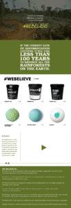 Sara Barats freelance web designer LUSH website