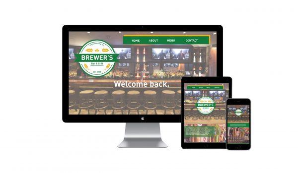 Sara Barats freelance web designer Brewer's responsive website